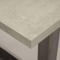 Tafel Mattone Scuro, betonlook, i.c.m. zwarte U-forma, stalen onderstel