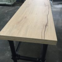 Tavolo enzo – balkenhout – bankje – sable