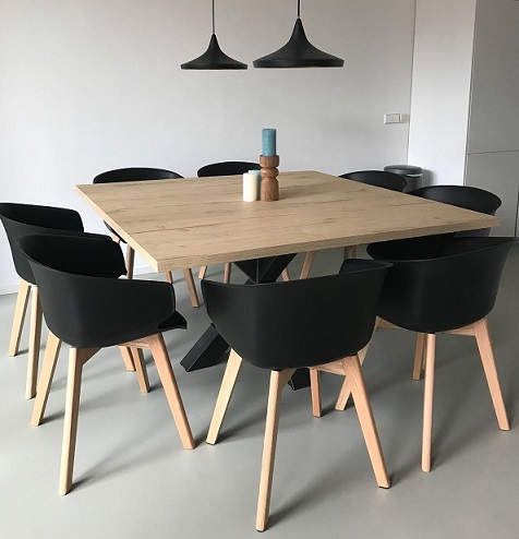 Modellen tafels en tafelbladen tavolo enzo for Stalen onderstel tafel laten maken