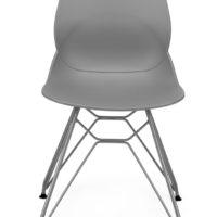 stoel – kuip grijs – zwart onderstel – Tavolo enzo