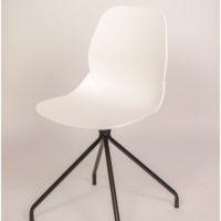 stoel – kuip wit – zwart onderstel Amber – Tavolo enzo