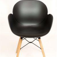 stoel – kuip zwart – comb onderstel – Tavolo enzo