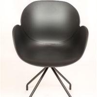 stoel – kuip zwart – zwart onderstel Amber – Tavolo enzo