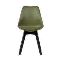 Eetkamer stoel groen vooraanzicht