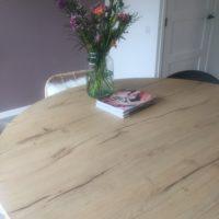 Eettafel – eiken look – Barl legno – ronde tafel – Tavolo enzo
