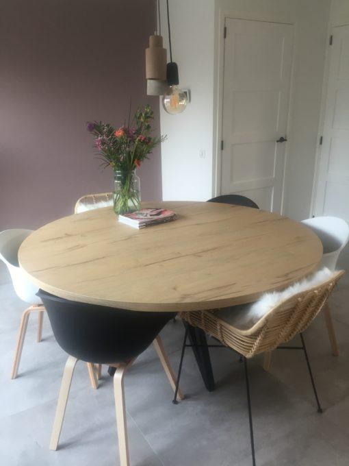 tavolo enzo eiken look bar legno ronde tafel industriele eettafel