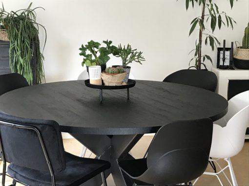 Zwarte ronde eettafel Nero 3