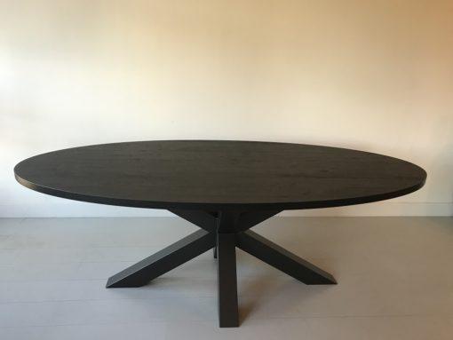 Eettafel ovaal zwart 2
