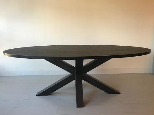 Eettafel ovaal zwart 1